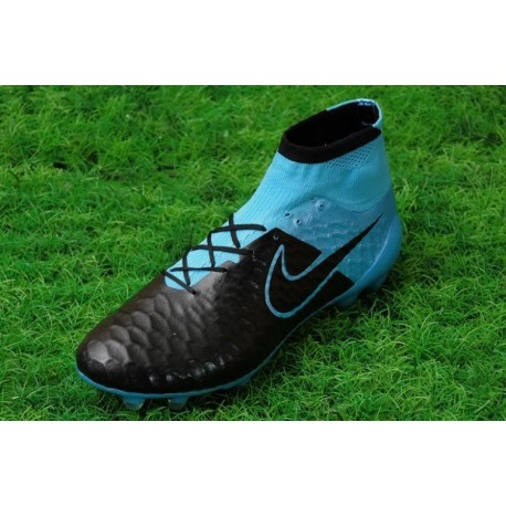 Bottes de football Nike Magista Obra FG Noir Bleu