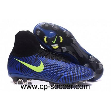 Nike Magista Obra II FG Soccer Cleats Bleu Lagoon / Vert / Noir