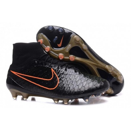 Nike Magista Obra FG Bottes de football Noir Noir Noir brut Hyper Crimson