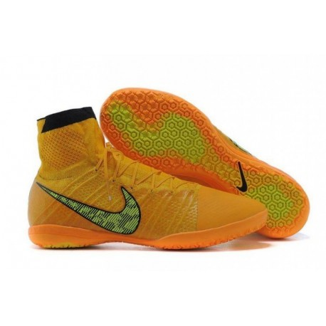 Nike Elastico Superfly IC Bottes de football Laser Orange Noir Tour Vol jaune
