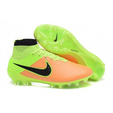 Nike Magista Obra Leather FG Football Bottes Toile Noir Volt