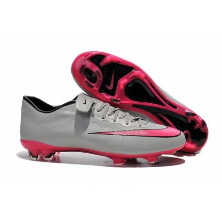 Nike Mercurial Vapor X FG Bottes de football Wolf Grey Hyper Rose Noir Noir