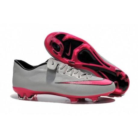 Nike Mercurial Vapor X FG Bottes de football Wolf Grey Hyper Rose Noir Noir