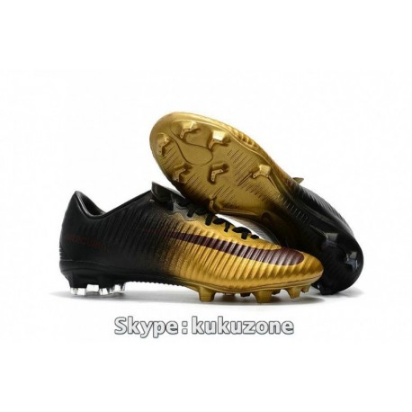 2017 Cheap Nike Mercurial Vapor XI FG Soccer Cleats Metallic Oren / Noir