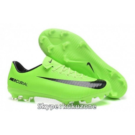2017 Nike Mercurial Vapor XI FG Soccer Cleats Electric Vert / Noir / Flash Lime