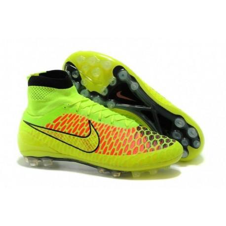 Nike Magista Obra AG Bottes de football Volt Or Noir Hyper Punch