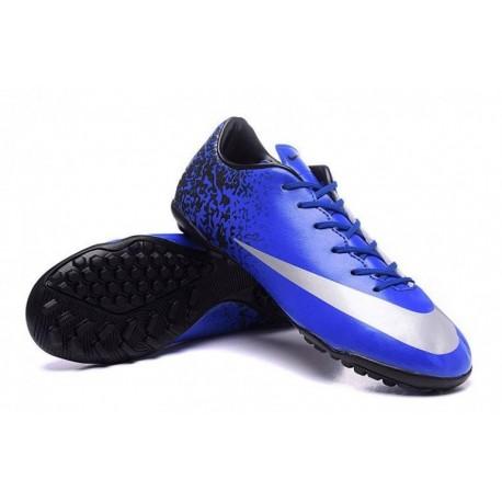 Nike Mercurial Victory V CR TF Soccer Cleats Deep Royal Bleu / Argent métallisé / Racer Bleu