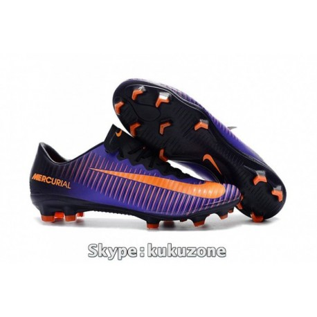2017 Nike Mercurial Vapor XI FG Soccer Cleats Violet Dynasty / Bright Citrus / Hyper Grape