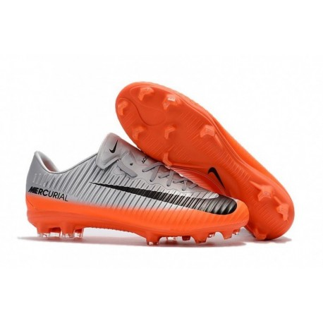 Nike Mercurial Vapor XI CR7 FG - Cool Grey / Orange / Hematite métallique