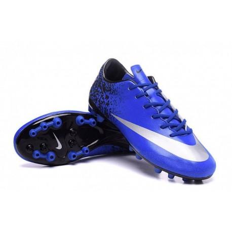 Nike Mercurial Veloce II CR AG-R Soccer Cleats Deep Royal Bleu / Metallic argent / Racer Bleu
