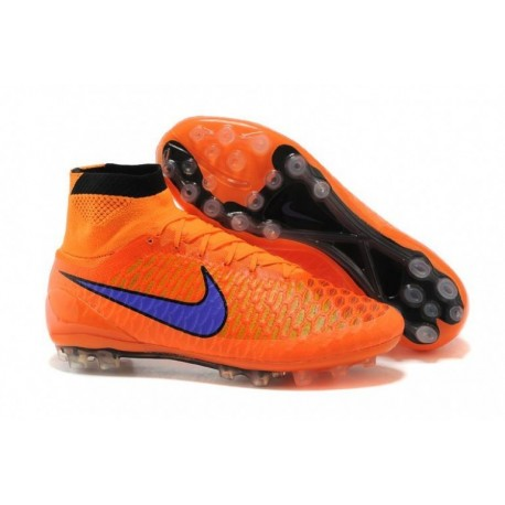 Nike Magista Obra AG Bottes de football Orange violet