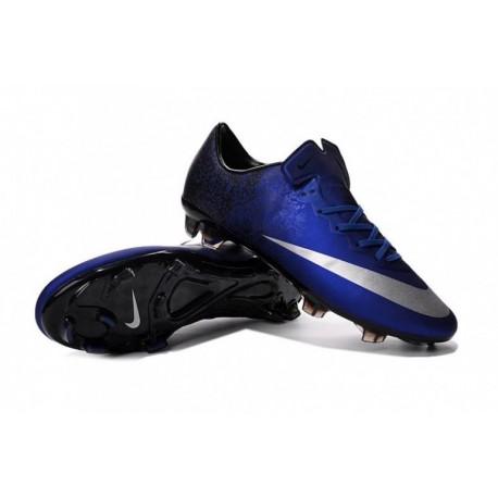Nike Mercurial Vapor X CR FG Soccer Cleats Deep Royal Bleu / Argent métallisé / Racer Bleu