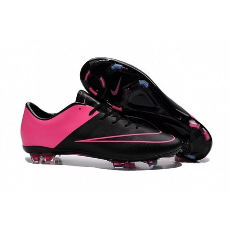 Nike Mercurial Vapor X FG Bottes de football Noir Noir Hyper Rose Hyper Rose