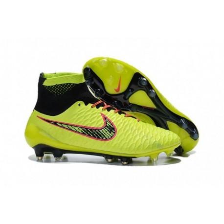 Bottes de football Nike Magista Obra FG Jaune Noir