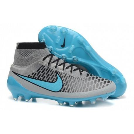 Nike Magista Obra FG Bottes de football Wolf Grey Turquoise Bleu Noir
