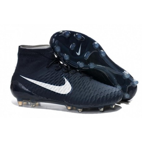 Bottes de football Nike Magista Obra FG Bleu marine Bleu