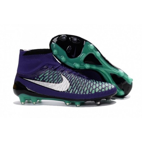 Bottes de football Nike Magista Obra FG Violet Blanc