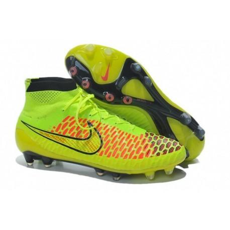 Nike Magista Obra FG Football Boots Volt métal or pièce noir hyper poinçon