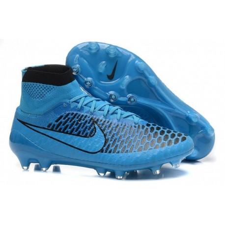 Bottes de football Nike Magista Obra FG Turquoise Bleu Turquoise Noir