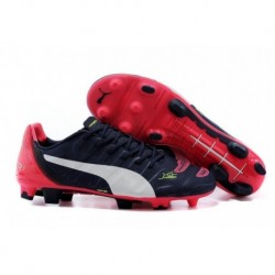 PUMA Evopower 1.2 FG Bottes de football Peacoat Blanc Bright Plasma