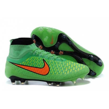 Nike Magista Obra FG Bottes de football Poison Vert Total Orange Noir