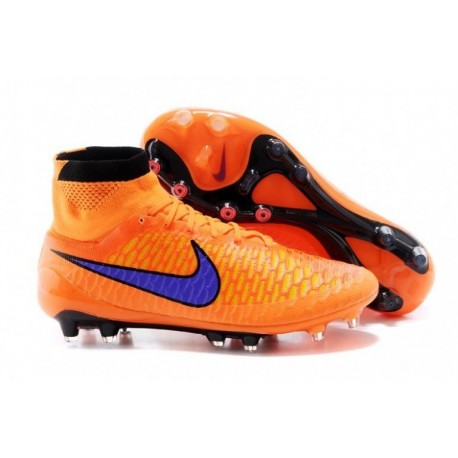 Nike Magista Obra FG Bottes de football Orange violet