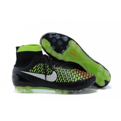 Nike Magista Obra AG Bottes de football Noir Blanc Volt Hyper Punch