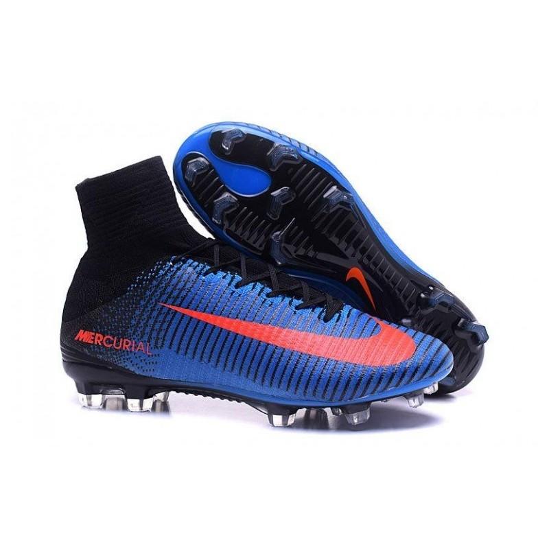 Nike Mercurial Superfly V FG EURO 2016 Bleu Noir Orange