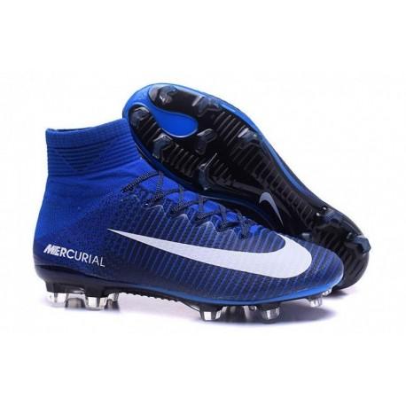 Nike Mercurial Superfly V FG EURO 2016 Bleu Blanc