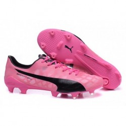Bottes de football Puma evoSPEED SL FG Rose Noir