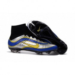 Nike Mercurial Superfly Heritage FG iD Crampons de soccer pour hommes Argent métallisé