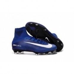 2016 Bleu Blanc Nike Mercurial Superfly V FG Soccer Cleats