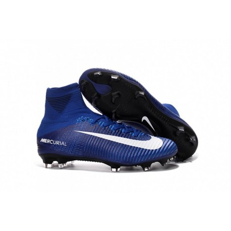 2016 Bleu Blanc Nike Mercurial Superfly V FG Soccer Cleats