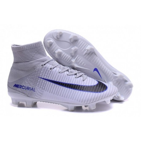 Nike Mercurial Superfly V FG EURO 2016 Soccer Cleats Blanc / Noir