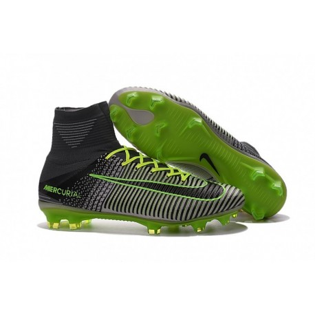 2016 Nike Mercurial Superfly V FG - Pure Platinum-Noir-Ghost Vert