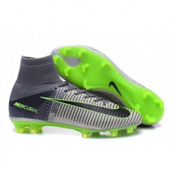 Nike Mercurial Superfly V FG EURO 2016 Soccer Cleats Noir / Vert