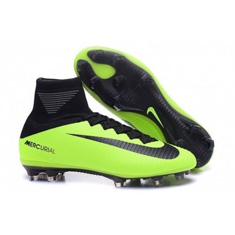 Clous de football Nike Mercurial Superfly V FG - Electric Vert / Noir / Flash Lime