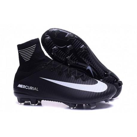 Nike Mercurial Superfly V FG EURO 2016 Noir Blanc