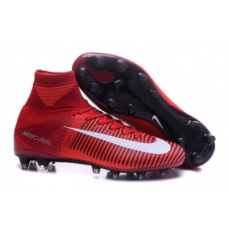 Cheap 2015 Nike Mercurial Superfly V AG-Pro Rouge Blanc