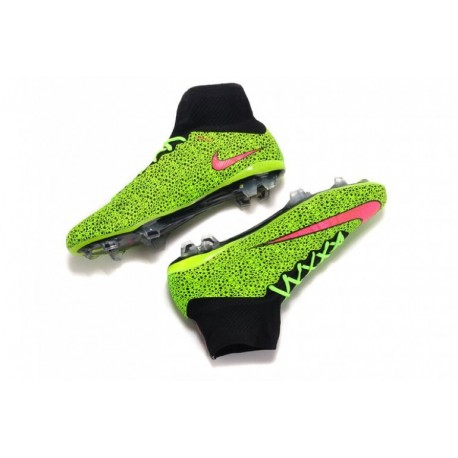 Nike Mercurial Superfly IV FG Safari Soccer Cleats Vert / Rouge à Pas Cher