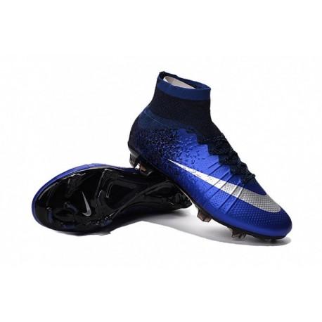 Nike Mercurial Superfly IV CR7 FG - Deep Royal Bleu-Metallic argent-Racer Bleu sur Pas Cher