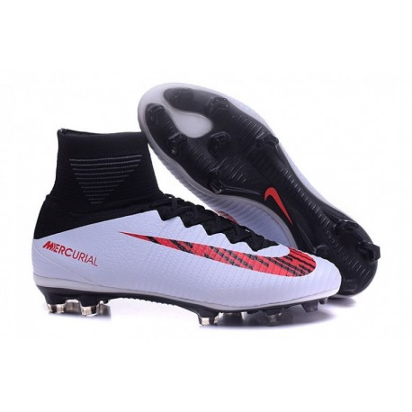 Cheap 2016 NIKE Mercurial Superfly V ID FG - Blanc-Noir-Rouge