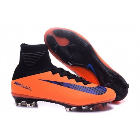 Low Cost NIke Mercurial Superfly V ID FG - Orange-Noir