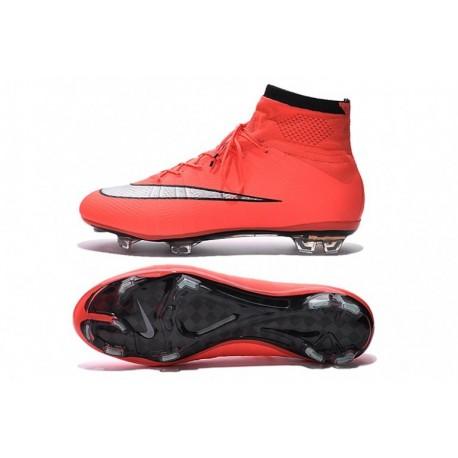 Cheap Nike Mercurial Superfly FG Soccer Cleats Bright Mango / Argent métallisé / Hyper Turq chez Pas Cher