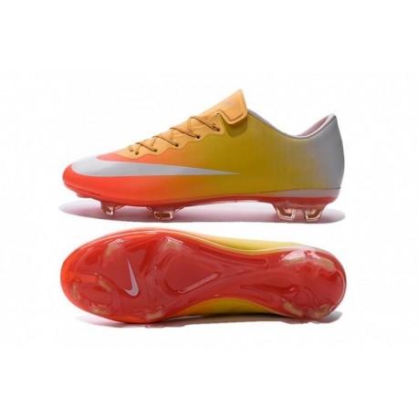 2016 Nike Mercurial Vapor X FG Orange Orange Jaune à Pas Cher