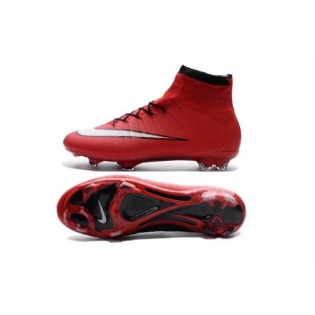 Cheap Nike Mercurial Superfly IV FG Rouge Noir chez Pas Cher