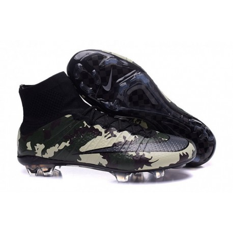2016 Nike Mercurial Superfly SE FG Camo Pack Soccer Cleats Camo / Noir