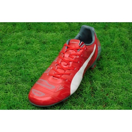 PUMA Evopower 1.2 FG Limited Edtion Cleats Rouge Blanc