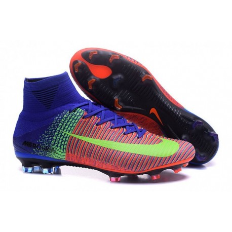 Nike Mercurial Superfly V FG - Bright Citrus-Racer Bleu-Ghost Vert