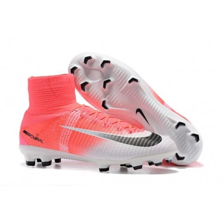 2017 Nike Mercurial Superfly V FG Soccer Cleats - Racer Rose / Blanc / Noir